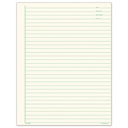 Lined Note Paper