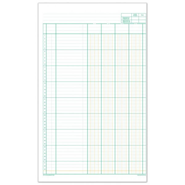 R.F.4-11 Columnar Pad | Accounting Forms Supply Co. Ltd.
