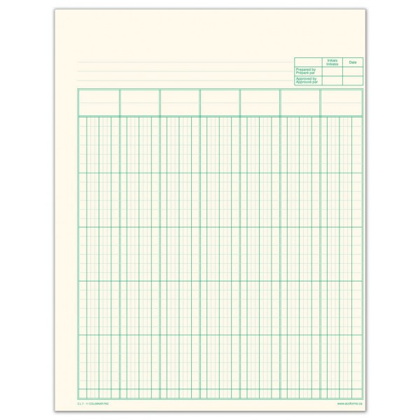 Columnar Pads & Working Papers