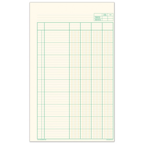 T r 4 columnar pad accounting forms supply co ltd for Html table column padding